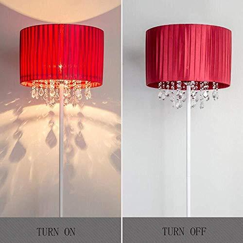 ZUQIEE Lámparas de pie Lámpara de pie, paño de la cortina vertical de cristal modernas Simplicidad estilo europeo de pie luminarias for sala de estar de moda creativa dormitorio de noche Incluye bombi