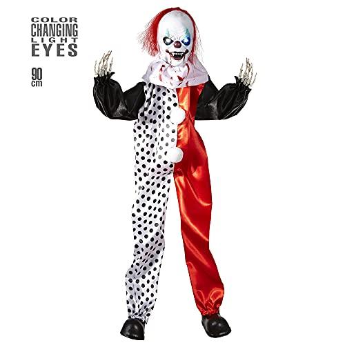 Widmann Clown tueur avec yeux lumineux unisex-adult, multicolore, Taille unique, vd-wdm01382