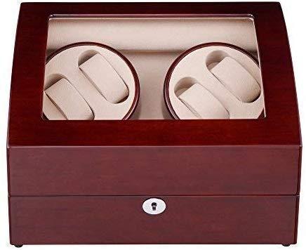 WXDP Enrollador de Reloj automático,Relojes refinados y Elegantes Caja enrolladora de automática con 4 Posiciones de 6 Espacios de Almacenamiento Carcasa de Madera 4 Modos Pintura de Piano Caja d