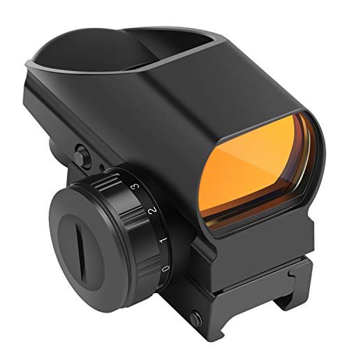 Fyland Reflex Sight 1x22x33mm Red Dot Sight 4 Reticles Patterns with 20mm Pic Rail Mount