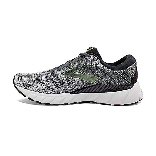 Brooks Mens Adrenaline GTS 19 Running Shoe - Black/Green/Grey - D - 11.0
