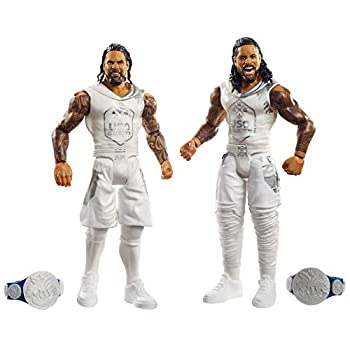 WWE Jimmy USO vs Jey USO Battle Pack Series #64 with Two 6-inch Articulated Action Figures & Ring Gear