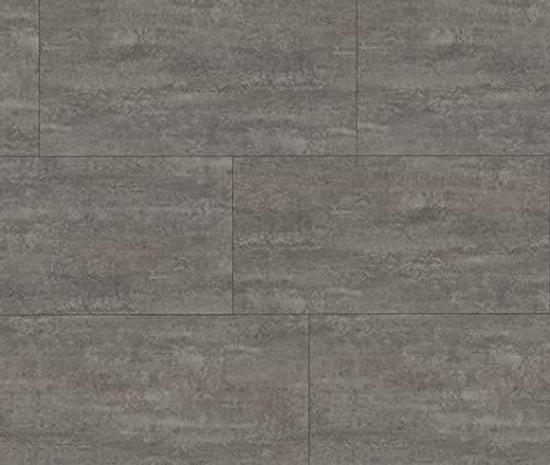 HORI® Klick-Vinylboden Steinfliese grau Aachen steingrau Fliese mit Microfase I für 22,17 €/m²