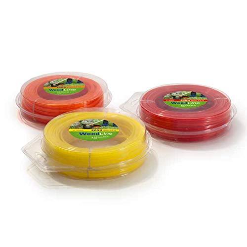 TeutoBrush - Hilo para desbrozadora (0,5 kg/2,7 mm de diámetro, 80 m), color rojo