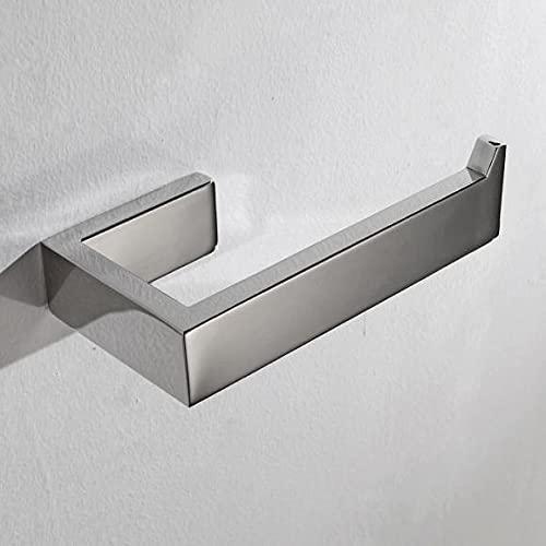 CCKOLE Portarrollos de papel higiénico perforación, soporte de papel higiénico 304, soporte de pared para papel higiénico, soporte para papel higiénico para baño y cocina (cromo plateado, perforado)