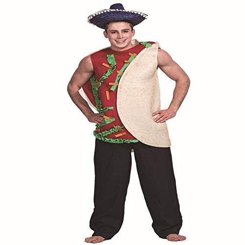 None/Brand Adultos Hot Dog Hamburguesa Pizza Cerveza Chip Queso Comida Taco Disfraces Carnaval Hombres Mujeres Tnica Fiesta De Halloween Cosplay Disfraz