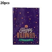 JJKEDW ホリデーパーティーハロウィーンのデコレーションをパッケージ20のハロウィンギフトバッグビスケットキャンディバッグビニール袋スナックビスケットベーキング (Color : 20pcs b)