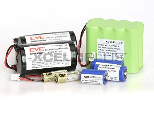 Visonic PowerMax + Pro Alarm Akku Saver Pack inkl. 2200mAh 0-9912-L, 0-9912-K und Sensoren (Komplett mit 2 Sirenenbatterien)