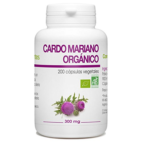 Cardo Mariano Orgánico - Silybum marianum - 300mg - 200 cápsulas vegetales