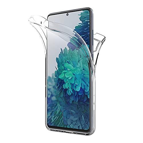 AICEK Hülle Compatible Samsung Galaxy S20 FE 5G / S20 Lite 360°Full Body Transparent Silikon Schutzhülle für Galaxy S20 FE 5G Hülle Durchsichtige TPU Bumper Handyhülle (6,5 Zoll)