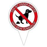 Steckschild Unser Garten ist kein Hundeklo! I Alu-Verbund 16 x 24,5 cm thumbnail