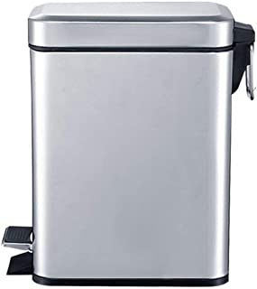 Special/Simple Trash Can, Stainless Steel Trash Can With Lid, Pedal Trash Can, Suitable For Living Room/bedroom/kitchen/of...