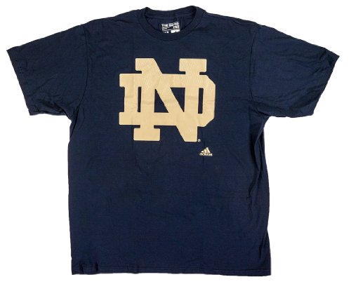 adidas NCAA College Football T-Shirt Notre Dame Fighting Fightin' Irish Navy Big Win (M)