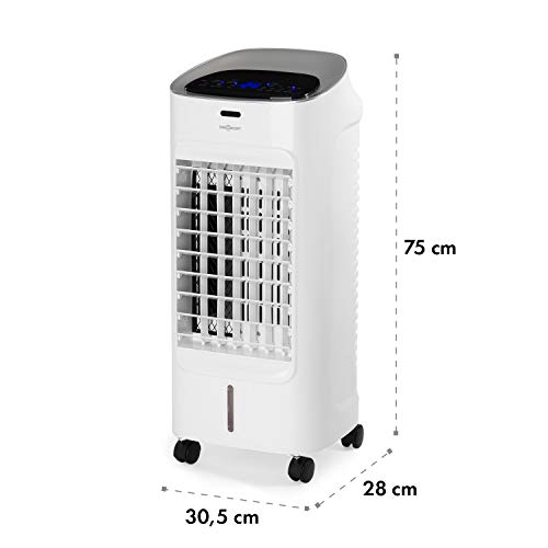 OneConcept Coolster IceLine - Télécommande, Arrêt programmable, Blanc
