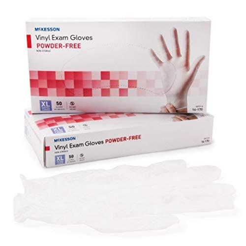 Exam Glove McKesson Confiderm NonSterile Powder Free Vinyl Smooth Clear X-Large Ambidextrous (#14-170, Sold Per Box) by McKesson