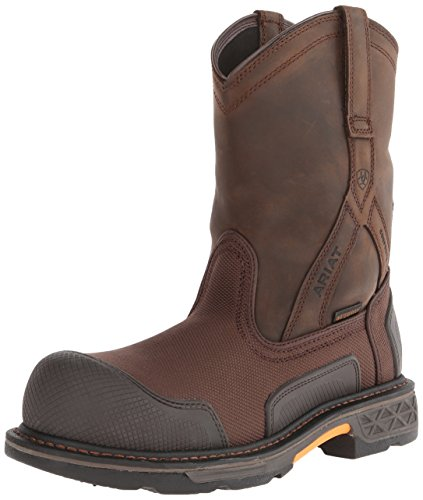 Ariat Men's Overdrive XTR Pull-on H2O Composite Toe Work Boot, Brown Cordura/Oily Distressed Brown, 8 M US