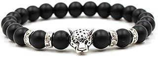 Natural stone Beads men bracelet Matte Tiger Leopard