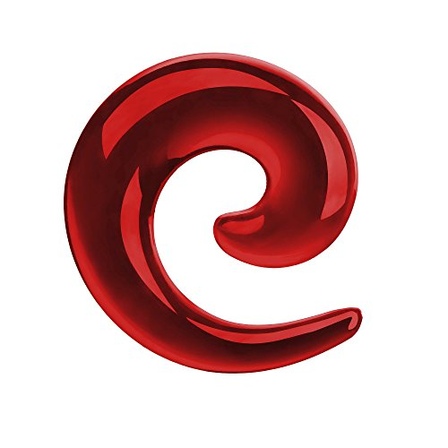 Piercingfaktor 8er Set Schnecke Dehnung Piercing Ohrpiercing Dehnungsspirale Expander Ohrpiercing Ohr Rot