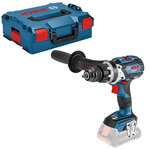 Bosch Professional 18V System GSB 18V-110 C - Taladro percutor a batería (110 Nm, 2100 rpm, conectable, sin batería, en L-BOXX)