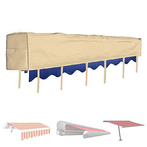 Aaaspark Funda para toldo manual y eléctrico, 5 m, color caqui