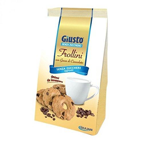 Giusto Frollini Con Gocce Di Cioccolato Senza Zucchero 350g