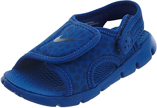 Nike Unisex-Kinder Kindersandale Sunray Adjust 4 Riemchensandalen, Blau (Game Royal/Obsidian-414), 17 EU