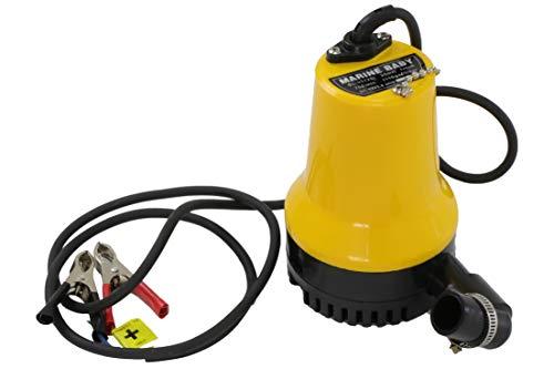 Sutekus 給水&排水ポンプ 海水対応 直流12V 75W 軽量 静音 高圧 排水量4.5㎥/時間 ワニクリップ付き 検品済
