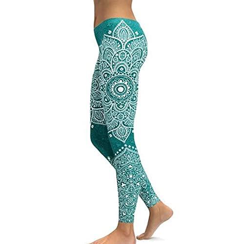 ArcherWlh Yoga Pantalones,Mujeres Sexy Imprimir Pantalones de Yoga Pantalones Únicos Fitness Leggings-Plano_Metro
