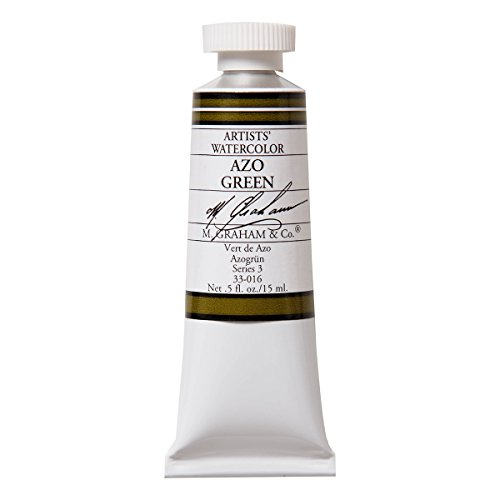 M. Graham 1/2-Ounce Tube Watercolor Paint, AZO Green