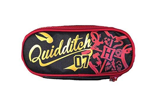 Estuche bolso portatodo Harry Potter Quidditch + bolígrafo con purpurina + marcapáginas