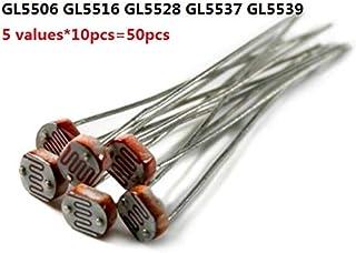GOUWEI 5 Values*10pcs=50pcs PhotoResistor Kit GL5506 GL5516 GL5528 GL5537 GL5539 Photosensitive resistors 5506 5516 5528 5...