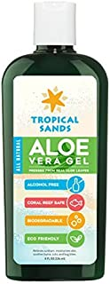 Tropical Sands All-Natural Aloe Vera Gel, 8 fl oz. - No Harsh Chemicals - 100% Pure