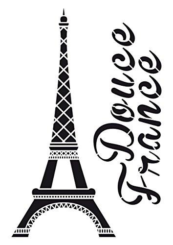 Artemio A3 Plantilla para estarcir de la Torre Eiffel