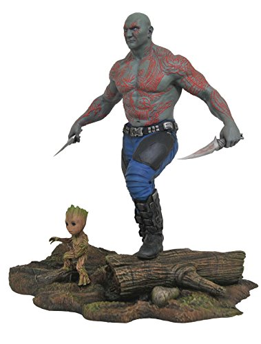 DIAMOND SELECT TOYS Marvel Gallery Guardians of The Galaxy Vol. 2 Drax & Groot PVC Figure image