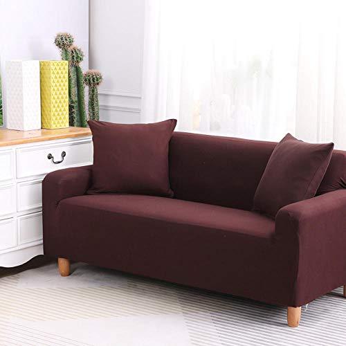 HXTSWGS Fundas de Sofa Cubierta de Sofa,Funda de sofá elástica, Tela elástica, Funda Protectora para Muebles-marrón_145-185cm