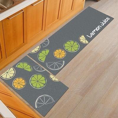 OPLJ Alfombrilla geométrica para el Suelo de la Cocina, Silla de Oficina Antideslizante, Alfombrilla para el Suelo de Bienvenida, alfombras para Cocina, baño, Alfombra, Felpudo A20 50x80cm + 50x160cm