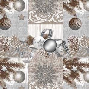 Tafelkleed van tafelzeil per meter Kerstmis K848-3 Selecteerbare maat in hoekige ronde ovaal 5 m x 140 cm eckig Veelkleurig