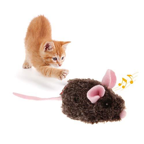 Suhaco GiGwi Melodía Chaser Serie Juguetes Interactivos para Gatos con Movimiento Chirriante Activado (Ratón en Movimiento Rosa)