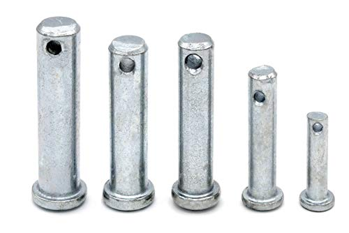 Sicherungsbolzen verzinkt 12mm x 38mm [10 Stück] HEAVYTOOL® Bolzen Splintbolzen Stecksplint Sicherungsbolzen verzinkt