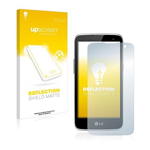 upscreen Entspiegelungs-Schutzfolie kompatibel mit LG K4 LTE – Anti-Reflex Bildschirmschutz-Folie Matt