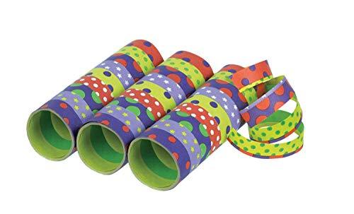 amscan 10022370 350238 - Luftschlangen Party, 3 Rollen mit jeweils 9 Röhrchen, Dekoration, Mottoparty, Karneval