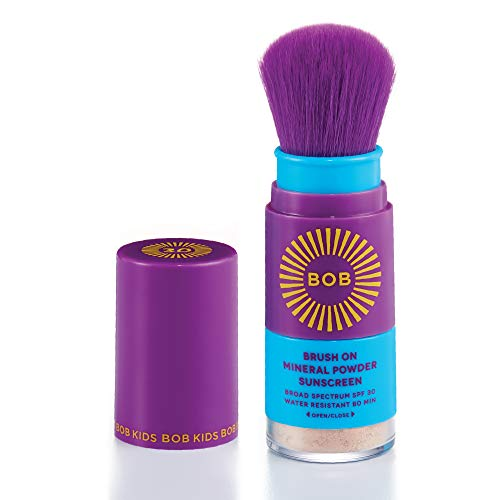 BOB KIDS Brush On Mineral Powder Sunscreen Broad Spectrum, Easy to Apply for Kids and Babies, SPF 30