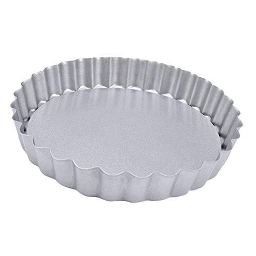 MERIGLARE Tartaletas de Tartaleta de Quiche de Lata de Acero con Alto Contenido de Carbono de 4 Pulgadas, Sartenes