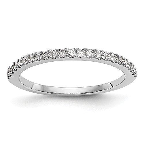 Diamond2Deal Damen 14K Weiß Gold True Origin Lab-Grown Diamant Band Ring, VS/E 0,168Karat
