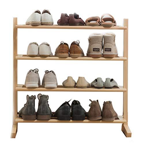 Range-chaussures Armoire à Chaussures Domestique Simple à Plusieurs Niveaux et à Quatre étages Support de Rangement en Bois Rack assemblé (Color : Wood Color, Size : 70x24x72cm)