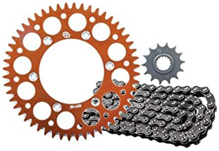 Primary Drive Alloy Kit & O-Ring Chain Orange Rear Sprocket for KTM 450 SX-F Factory Edition 2015-2017