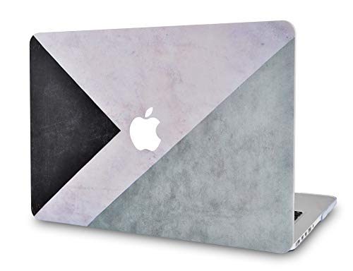 LuvCase Laptop Case for MacBook Pro 16 Touch Bar (2020/2019 Release) A2141 Rubberized Plastic Hard Shell Cover (Black White Grey)