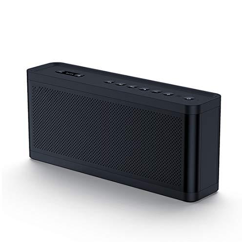 Bluetooth Lautsprecher Kabellos Kohlefaser Horn Surround Sound Apt-X Technologie Subwoofer Einstellung 12h Spielzeit Eingebautes Mikrophon 33 Fuß Reichweite