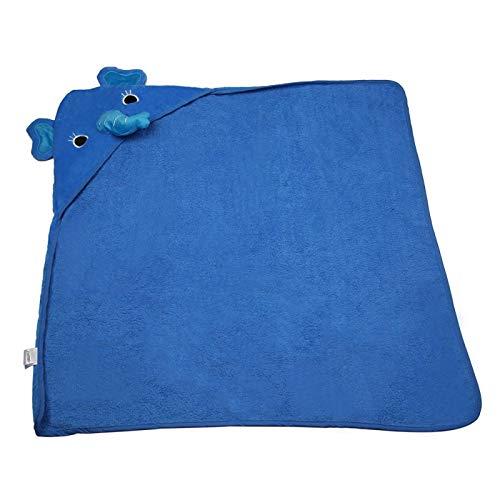 Albornoz para bebé, manta suave para bebé para niño y niña para toalla de baño(blue, Elephant)