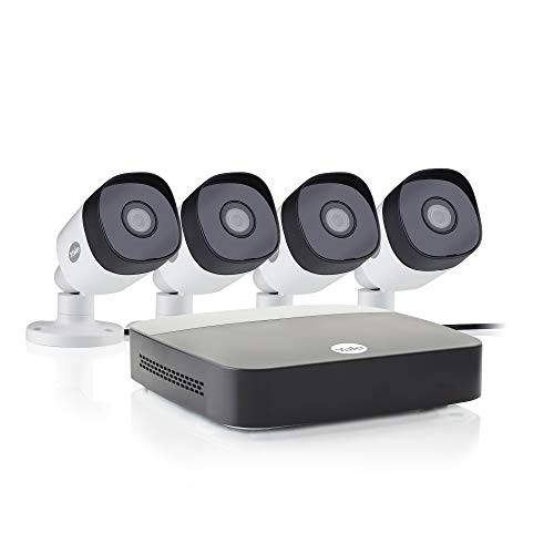Yale SV-4C-4ABFX-2 Smart Home CCTV Kit, x4 Outdoor Night Vision Cameras, 1080p, 1 TB Hard Drive, App Controlled